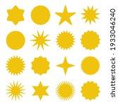 retro stars  sunburst symbols.... | Shutterstock .eps vector #1933046240