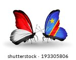 two butterflies with flags on... | Shutterstock . vector #193305806