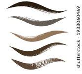 makeup strokes  set of mascara... | Shutterstock .eps vector #1933060469