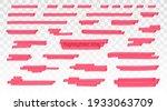 red highlighter lines set...   Shutterstock .eps vector #1933063709