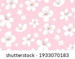 pink spring cherry blossom... | Shutterstock .eps vector #1933070183