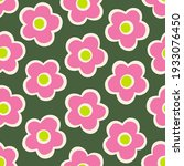 cute hand drawn floral seamless ... | Shutterstock .eps vector #1933076450