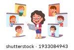 teacher woman person teaching...   Shutterstock .eps vector #1933084943
