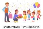 birthday celebration party.... | Shutterstock .eps vector #1933085846