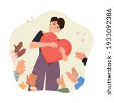 self pride  self acceptance ... | Shutterstock .eps vector #1933092386