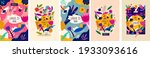 beautiful romantic flower... | Shutterstock .eps vector #1933093616