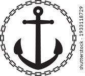 anchor with chain round  circle ... | Shutterstock .eps vector #1933118729