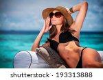 portrait of sexy model posing... | Shutterstock . vector #193313888