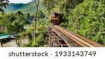 Train On A Wooden Railway...