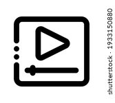 icon media with style outline