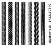 set of simplify black tire... | Shutterstock .eps vector #1933157840