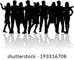 group of people  | Shutterstock .eps vector #193316708
