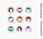 member's avatars on clubhouse... | Shutterstock .eps vector #1933167560