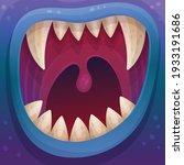 scary monster open mouth full... | Shutterstock .eps vector #1933191686