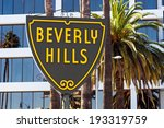 famous beverly hills sign in... | Shutterstock . vector #193319759