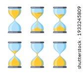 set of hourglass. sandglass...