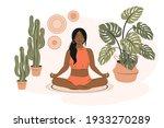 modern woman with dark hair... | Shutterstock .eps vector #1933270289