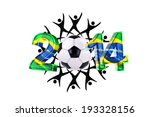 soccer background 2014 with... | Shutterstock . vector #193328156