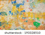 colour splash on cement wall... | Shutterstock . vector #193328510