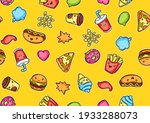 seamless pattern with cute... | Shutterstock .eps vector #1933288073