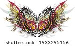 colorful carnival mask with... | Shutterstock .eps vector #1933295156