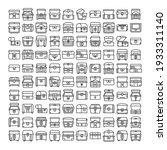 treasure chest icons set vector   Shutterstock .eps vector #1933311140