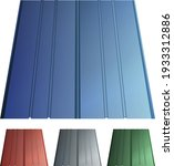 seam roofing set of colored... | Shutterstock .eps vector #1933312886