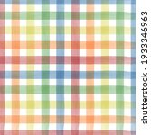 colorful watercolor checkered... | Shutterstock .eps vector #1933346963