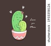cute cartoon characters. cacti...   Shutterstock .eps vector #1933358126