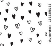 hand drawn doodle hearts... | Shutterstock .eps vector #1933358183