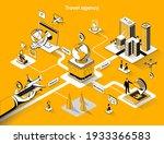travel agency isometric web... | Shutterstock .eps vector #1933366583