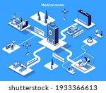 medical center isometric web... | Shutterstock .eps vector #1933366613