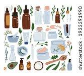 organic cosmetic packaging big... | Shutterstock .eps vector #1933391990