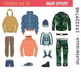 man outdoor sport clothing... | Shutterstock .eps vector #193339748