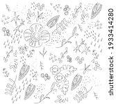 cute  elegant floral pattern in ... | Shutterstock .eps vector #1933414280