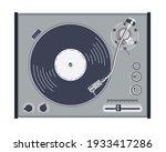 vintage turntable vinyl record... | Shutterstock .eps vector #1933417286