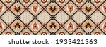 diagonal ikat stripes. zigzag...   Shutterstock .eps vector #1933421363