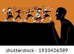 titanomachy war of greek gods...   Shutterstock .eps vector #1933426589