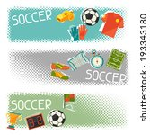 sports horizontal banners with... | Shutterstock .eps vector #193343180