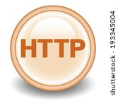 http pointer icon on orange... | Shutterstock .eps vector #193345004