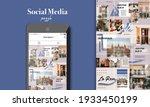 social media puzzle template...   Shutterstock .eps vector #1933450199