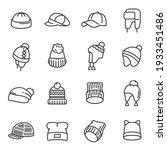 hats types assortment knitting  ... | Shutterstock .eps vector #1933451486