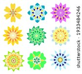 set of vector multicolored... | Shutterstock .eps vector #1933484246