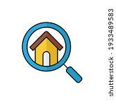 home search logo icon vector...