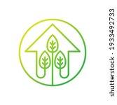 green eco home logo icon vector ...