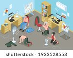 people suffering from hot... | Shutterstock .eps vector #1933528553