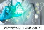 the senior doctor holds a... | Shutterstock . vector #1933529876