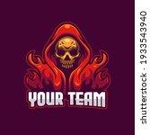 skull e sports mascot logo... | Shutterstock .eps vector #1933543940