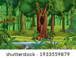 forest scene with liana and... | Shutterstock .eps vector #1933559879