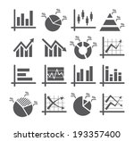 diagram and graphs icons | Shutterstock .eps vector #193357400